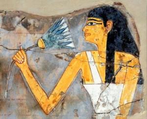 エジプトのハスの壁画